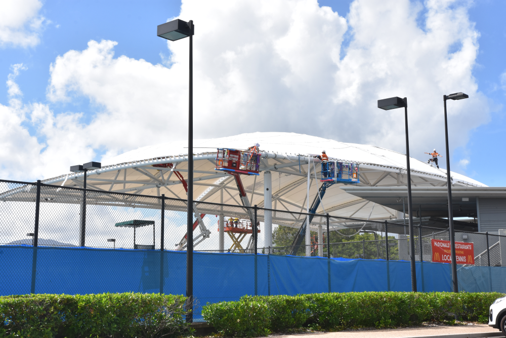 tennis centre roof